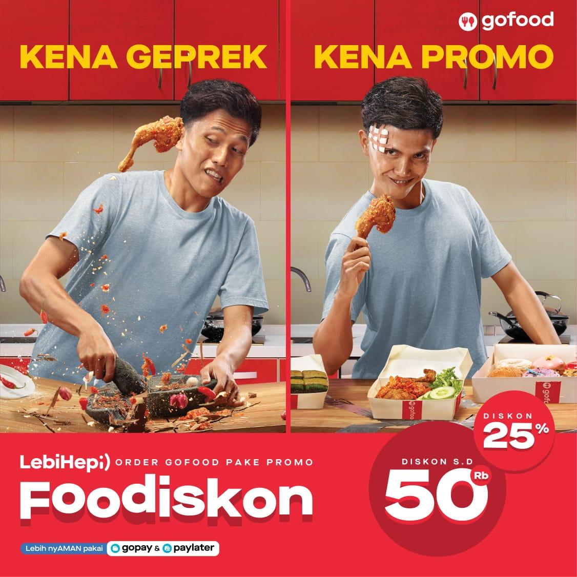 Gofood Berikan Diskon Harga Lewat Promo Foodiskon Padek Co